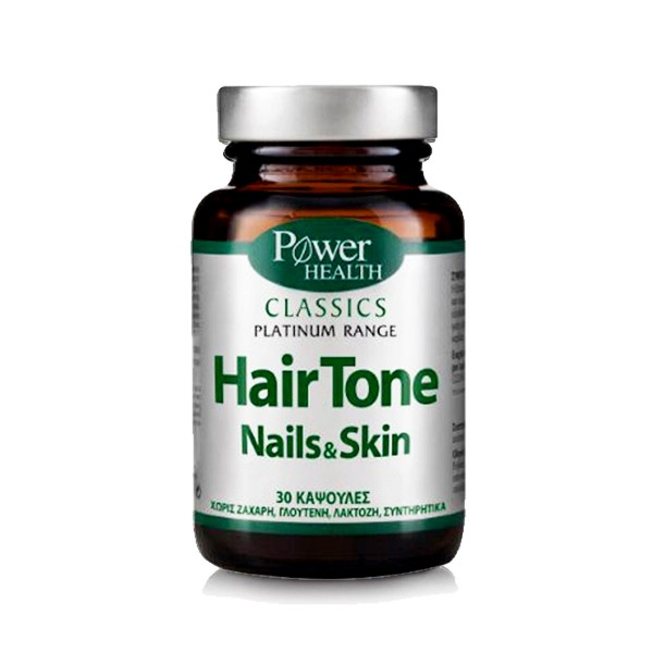POWER HEALTH Classics Platinum Range Hair Skin Nails για τα αδύναμα μαλλιά, τα εύθραυστα νύχια και το θαμπό δέρμα 30 κάψουλες