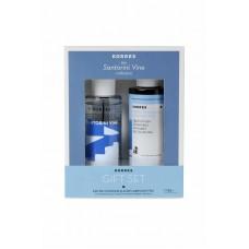 Korres Gift Set Santorini Vine Eau De Cologne 100ml & Δώρο Αφρόλουτρο Αμπέλι Σαντορίνης 250ml
